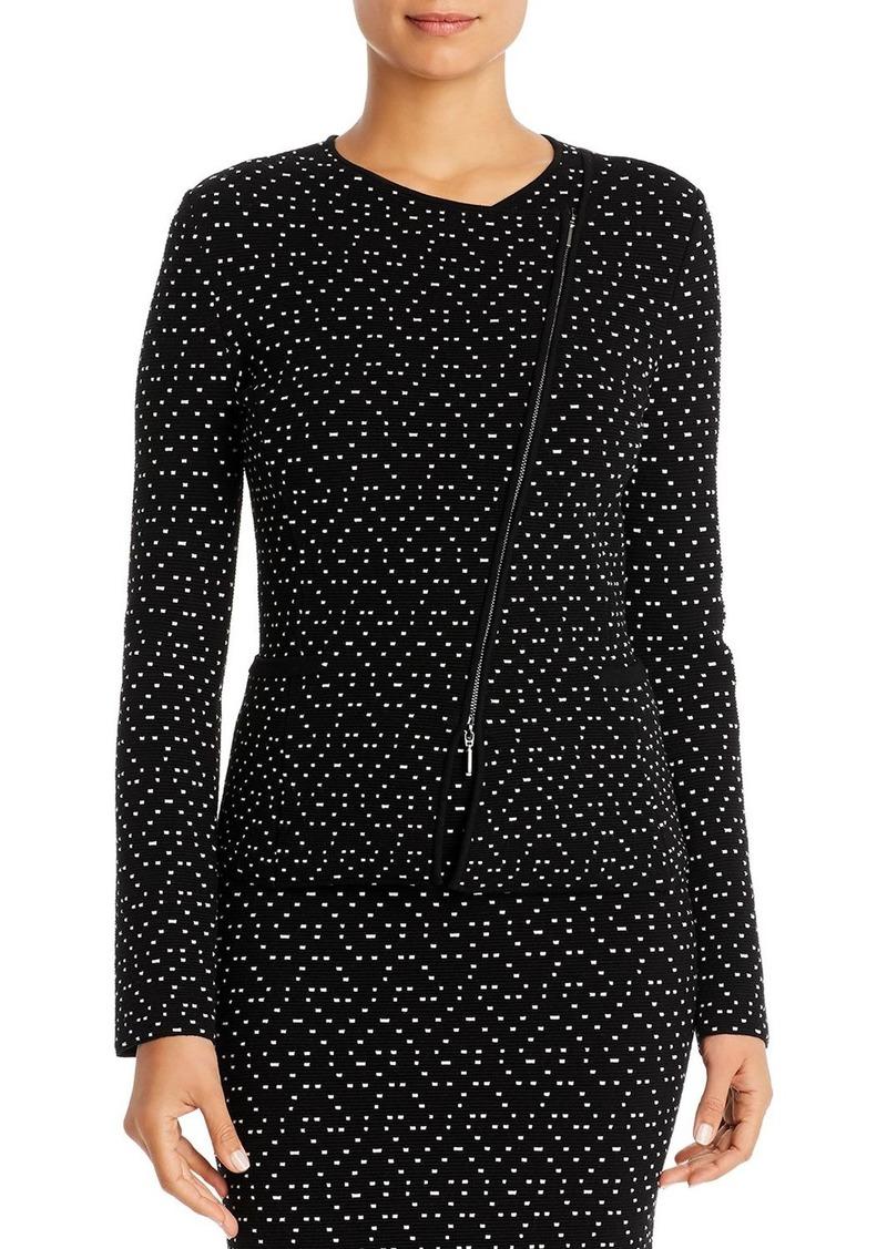 Emporio Armani Textured Diagonal-Zip Jacket