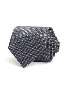 Emporio Armani Textured-Dot Classic Silk Tie