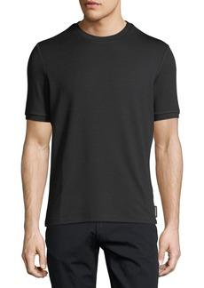 Armani Textured Jacquard Crewneck Jersey T-Shirt