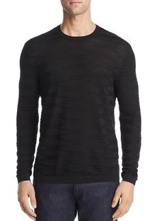 Emporio Armani Textured Knit Silk & Cotton Slim Fit Sweater