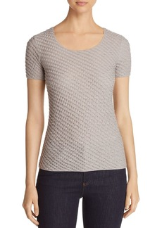 Emporio Armani Textured Knit Stretch Top
