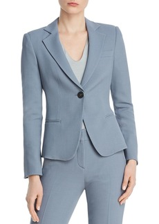 Emporio Armani Textured Single-Button Back-Slit Blazer