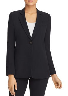 Emporio Armani Textured Single-Button Blazer