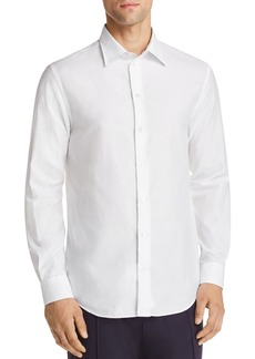 Emporio Armani Tonal Geo Print Regular Fit Button-Down Shirt