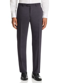 Emporio Armani Tonal Micro-Check-Pattern Tailored Fit Pants