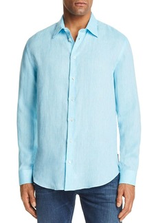 Emporio Armani Tonal Stitch Regular Fit Button-Down Shirt