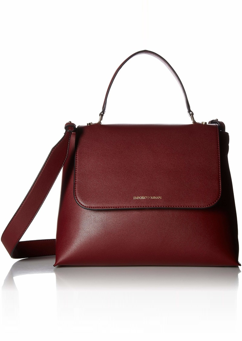 Emporio Armani Tote Bag with Removeable Strap bordeaux