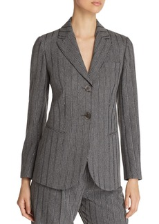 Emporio Armani Two-Button Metallic Stripe Blazer