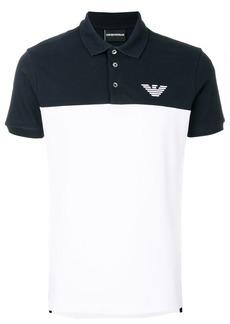 Emporio Armani two tone polo T-shirt - White
