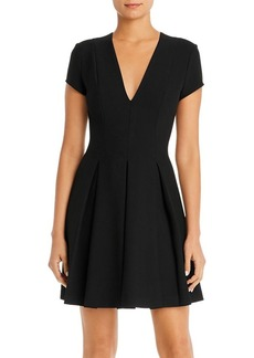 Emporio Armani V-Neck Fit-and-Flare Mini Dress