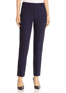 Emporio Armani Virgin Wool-Blend Straight Leg Pants