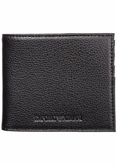 Emporio Armani Wallet Leather Coin Case Holder Purse Card Bifold