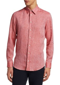 Armani Washed Linen Button-Down Shirt