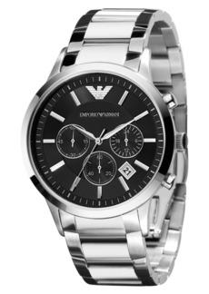 Emporio Armani Watch, Men's Chronograph Stainless Steel Bracelet 43mm AR2434