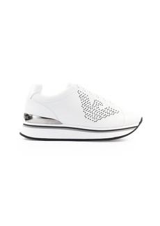 Emporio Armani White Silver Sneaker
