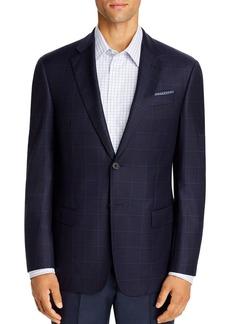 Emporio Armani Windowpane Virgin Wool Regular Fit Blazer