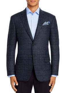 Emporio Armani Windowpane Wool Blend Blazer