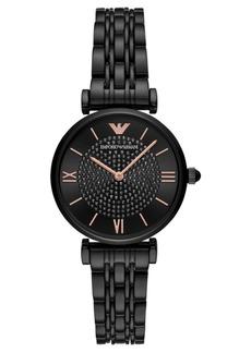 Emporio Armani Women's Black Stainless Steel Bracelet Watch 32mm