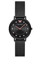 Emporio Armani Women's Black Stainless Steel Mesh Bracelet Watch 32mm