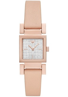 Emporio Armani Women's Blush Leather Strap Watch 22x22mm