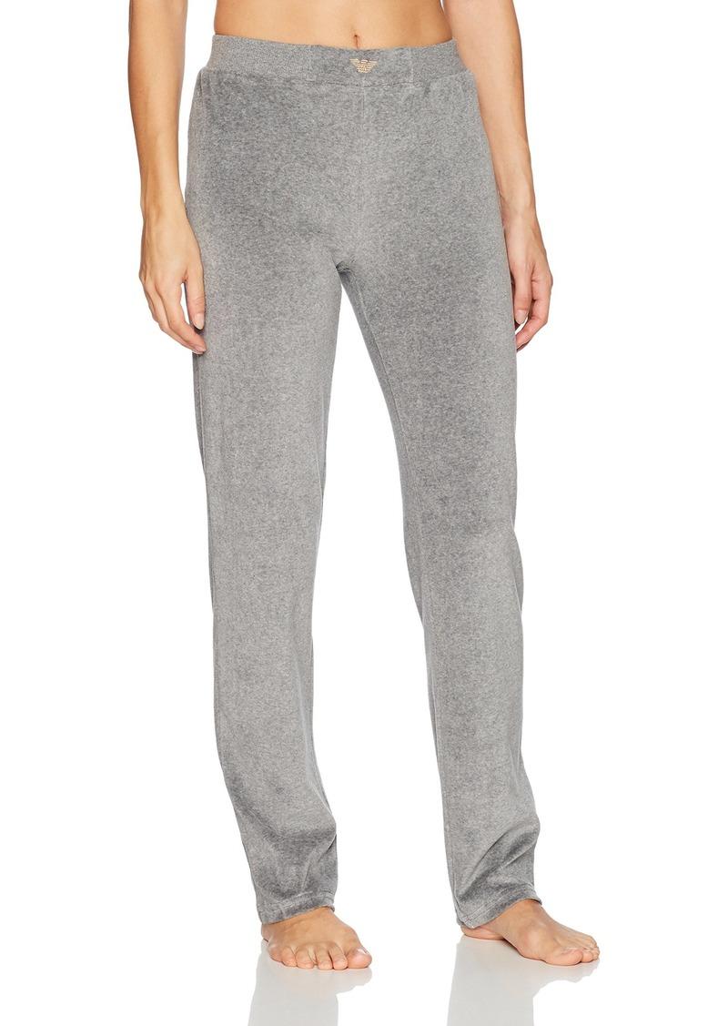 Emporio Armani Women's Chenille Regular Fit Pants  L