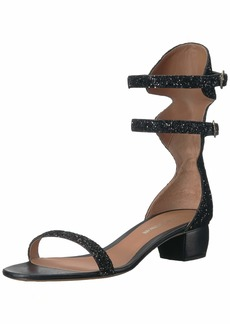 Emporio Armani Women's Double-Ankle Strap Sandal Pump Black 3 Medium EU ( US)