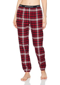 Emporio Armani Women's Flannel Pants with Cuffs  S