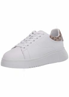 Emporio Armani Women's Flat Sneaker with Back Logo  41 Medium EU ( US)