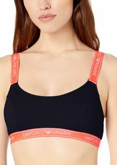 Emporio Armani Women's Iconic Logoband Bralette Bra Bra