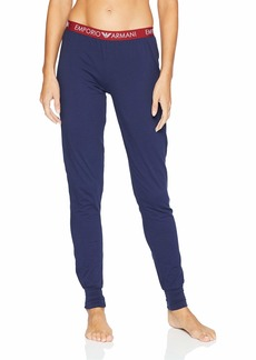 Emporio Armani Women's Iconic Logoband Cuffed Pants deep Blue