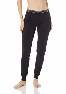 Emporio Armani Women's Iconic Logoband Pants with Cuffs