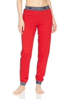 Emporio Armani Women's Logo Power Terry Pants with Cuffs  M