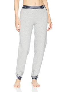 Emporio Armani Women's Logo Power Terry Pants with Cuffs  XL