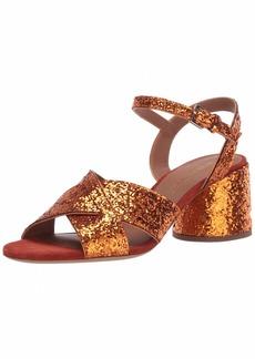 Emporio Armani Women's Metallic Low Block Heel Heeled Sandal  38M Medium EU ( US)