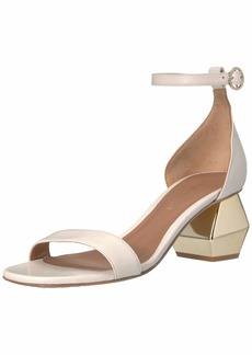 Emporio Armani Women's Nappa Leather Ankle Strap Sandal Pump  3 Medium EU ( US)