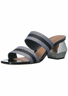 Emporio Armani Women's Patent/Webbing Slip-On Sandals Pump  3 Medium EU ( US)