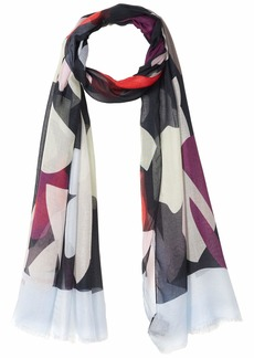 Emporio Armani Women's Patterned Scarf black OS