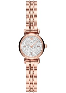 Emporio Armani Women's Starry Night Rose Gold-Tone Stainless Steel Bracelet Watch 22mm