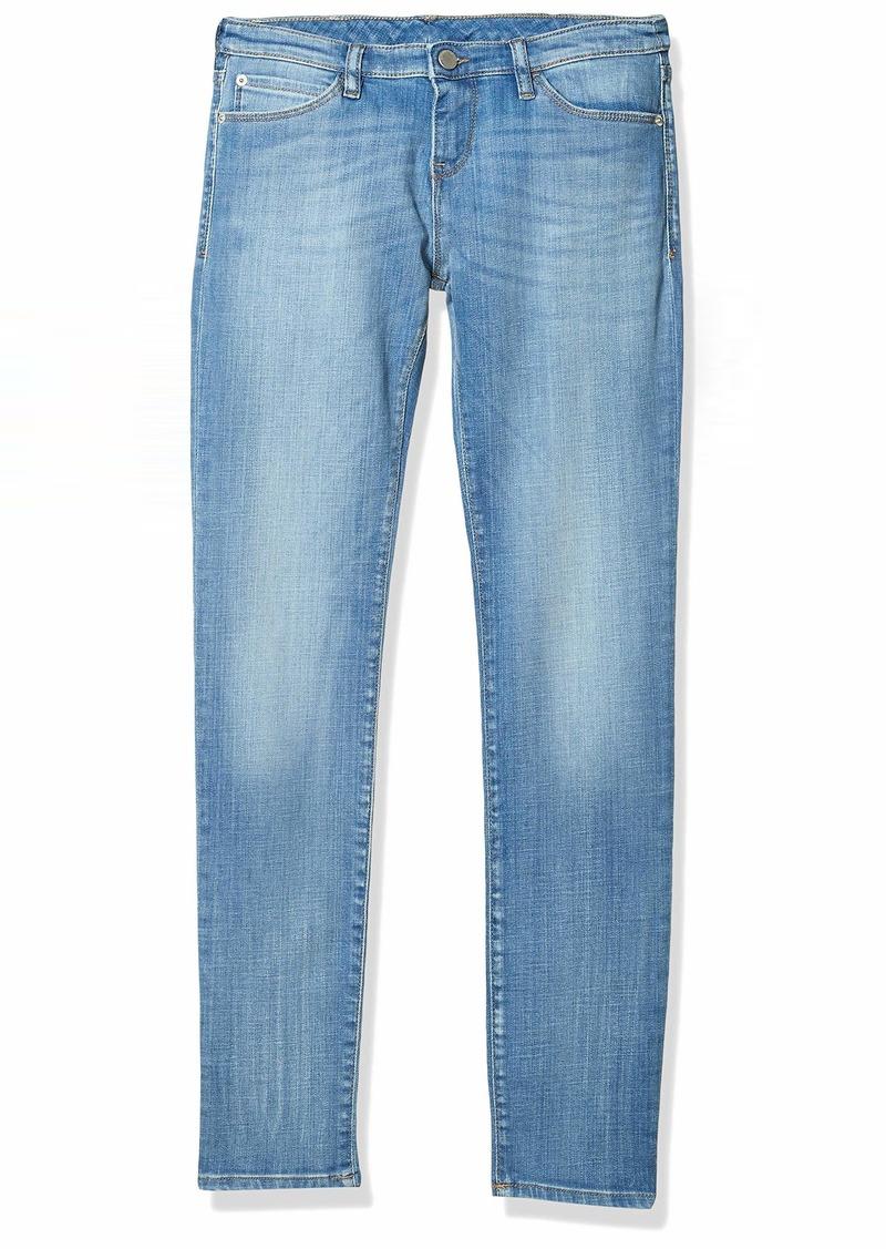 Emporio Armani Women's Straight Leg Jean in Light