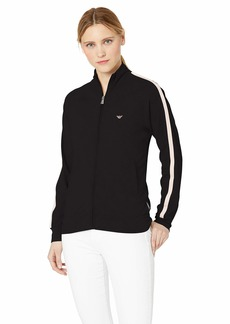 Emporio Armani Women's Stretch Cotton Full-Zip Jacket