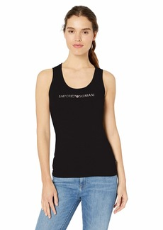 Emporio Armani Women's Stretch Cotton Tank Top  edium