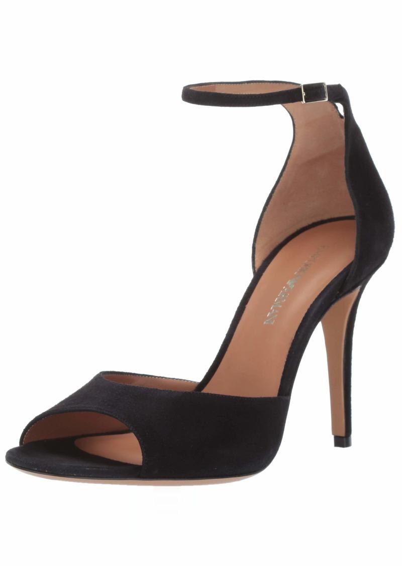 Emporio Armani Women's Suede Ankle Strap Pump  3 Medium EU ( US)
