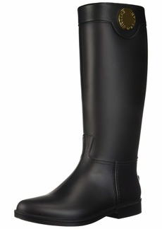 Emporio Armani Women's Tall Rain Boot Black 3 Regular EU ( US)
