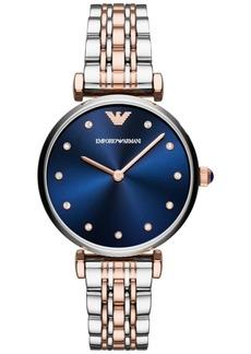 Emporio Armani Women's Two-Tone Stainless Steel Bracelet Watch 32mm