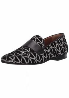 Emporio Armani Velvet Geo Print Loafer Flat
