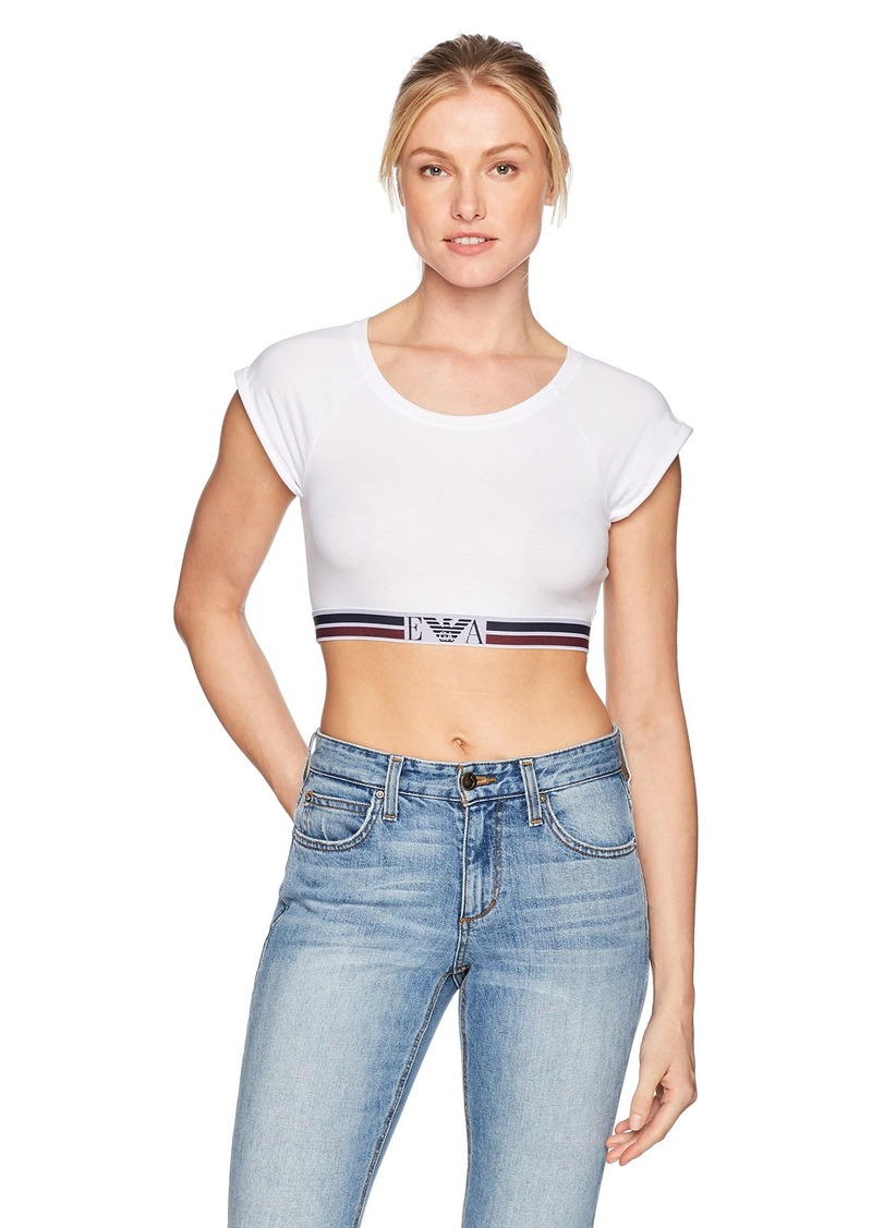 Emporio Armani Women's Visibility Athletic Crop Top  S