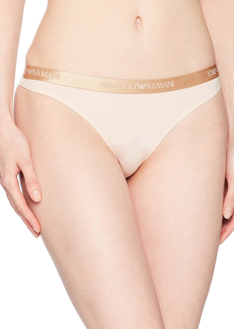 Emporio Armani Women's Visibility Laser Cut Thong  M