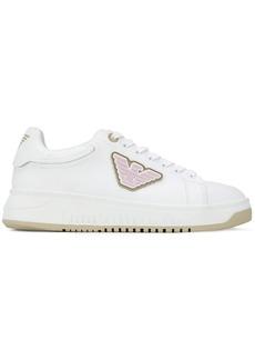 Armani logo patch low-top sneakers