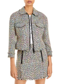 Emporio Armani Zippered Tweed Jacket