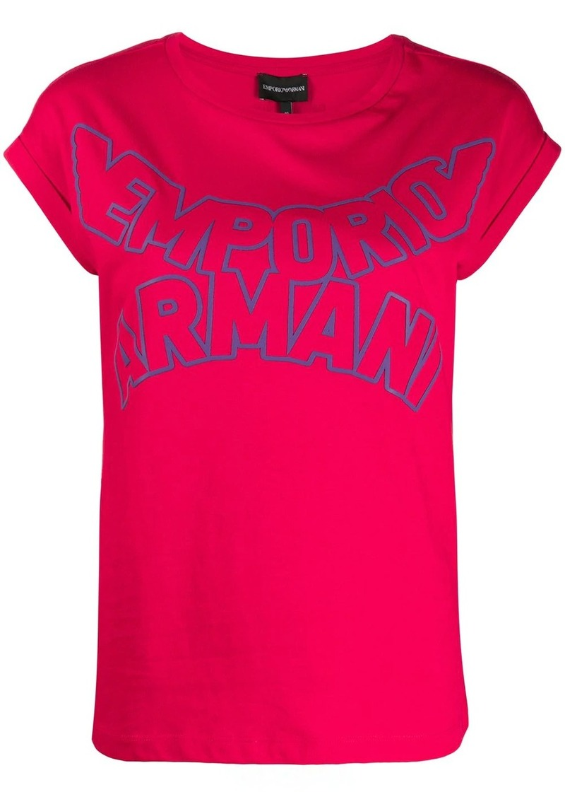 Armani enlarged logo print T-shirt